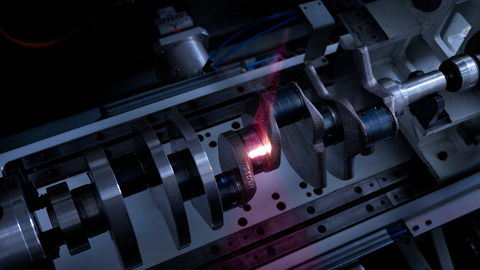 Detection of anomalies in laser hardening process of crankshafts